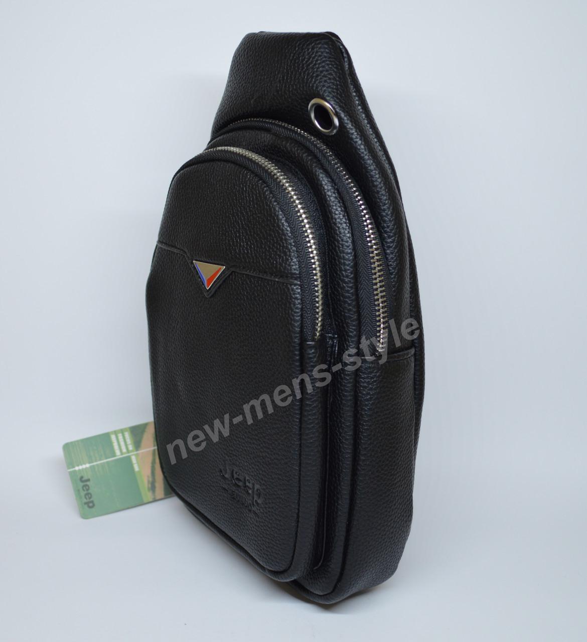 e8fb9f7e1048 ... Мужская спортивная кожаная сумка слинг рюкзак бананка Jeep BULUO 3 ...