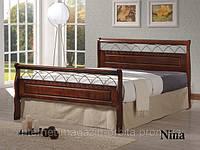 Кровать кованная, деревянная Нина (Nina)