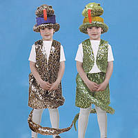 Маскарадный костюм Змея коричневая размер М