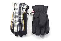 Перчатки Kombi STRIKE JR, подростковые, в бело-серо-салатовую клеточку, размер L