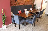 Мягкая лавочка большого размера для ресторанов и кафе (Серая)