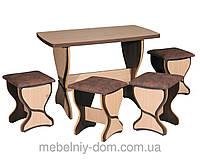 """Кухонная обеденная группа стол и табуреты """"Прага"""", фото 1"""