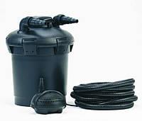 Напорная система фильтрации Pontec Pondopress 10000: фильтр с УФ лампой + насос + шланг