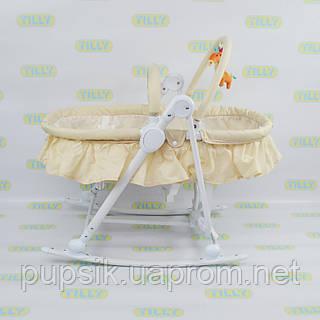 Шезлонг-люлька детский 3в1 BT-BB-0003 BEIGE