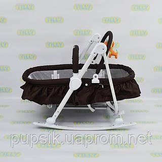 Шезлонг-люлька детский 3в1 BT-BB-0003 COFFEE