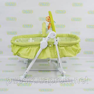 Шезлонг-люлька детский 3в1 BT-BB-0003 GREEN