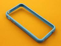 Чехол бампер TPU для IPhone 4S голубой