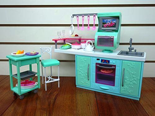 Кукольная мебель Глория Gloria 2816 современная кухня Барби