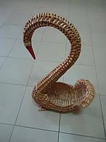 """Цветочник плетеный из лозы """"Лебедь"""", фото 1"""