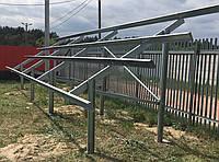Системы крепления солнечных панелей на земле