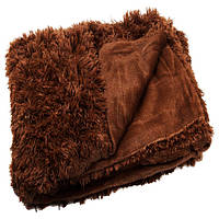 Меховой Colorful Home плед-травка евро 200*220 коричневый
