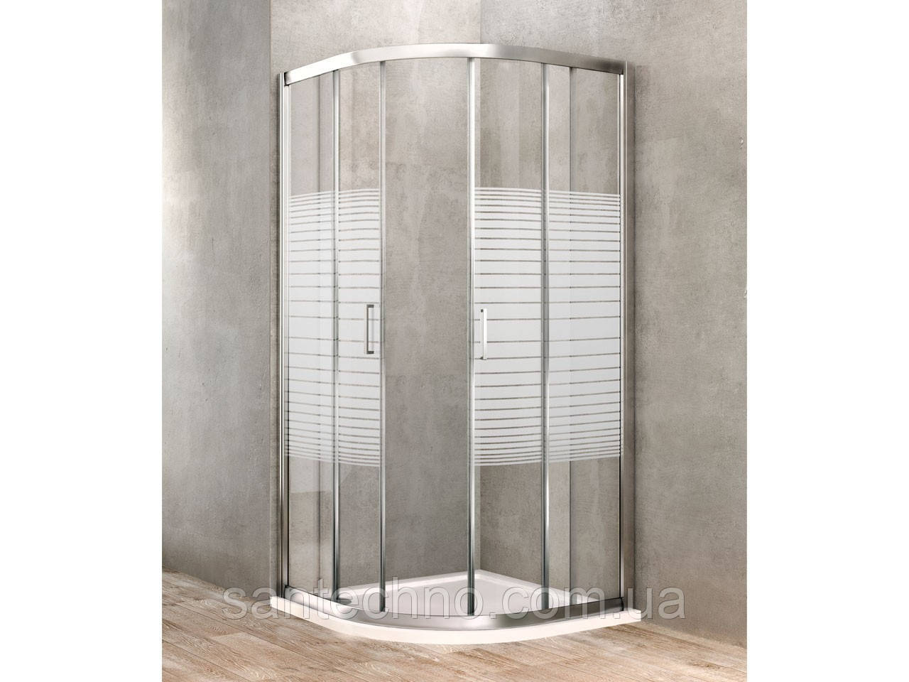 Угловая душевая кабина Dusel A-511 (800*800*1900) Silk Screen