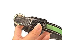 Светящийся  LED ошейник для собак Pevor USB аккумуляторный водостойкий, фото 3