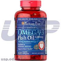 Puritan's Pride Omega-3 Fish Oil Coated 1200 mg (360 mg Active Omega-3) омега-3 жирные кислоты омега 3