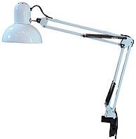 Лампа настольная МТ-811,белая на струбцине