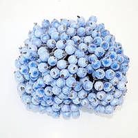 Ягода морозная декоративная голубая (бледно синяя), соцветие из 40 ягод, диаметр ягоды 12мм