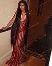 Длинный чёрный парик 90 см. без чёлки, натуральный волос, фото 4