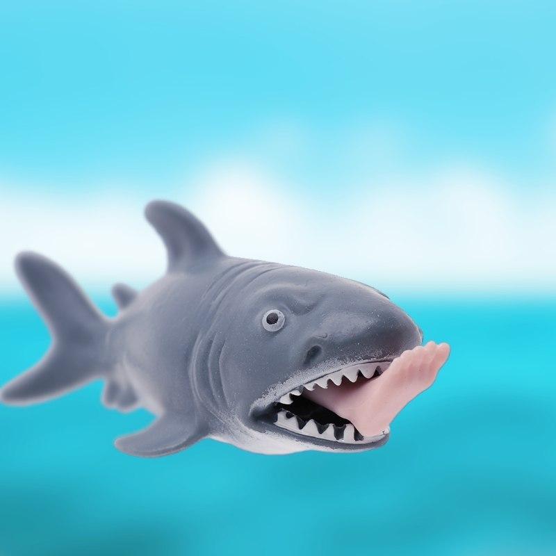 Акула: игрушка антистресс! Акула с ногой в пасти!