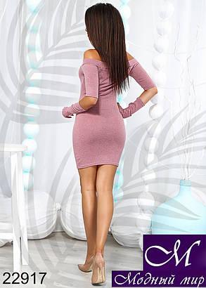 Женское короткое платье из ангоры (р. 42-44, 44-46) арт. 22917, фото 2