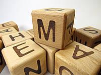 Кубики дерев'яні абетка англійська, Майстерня Eko-Land