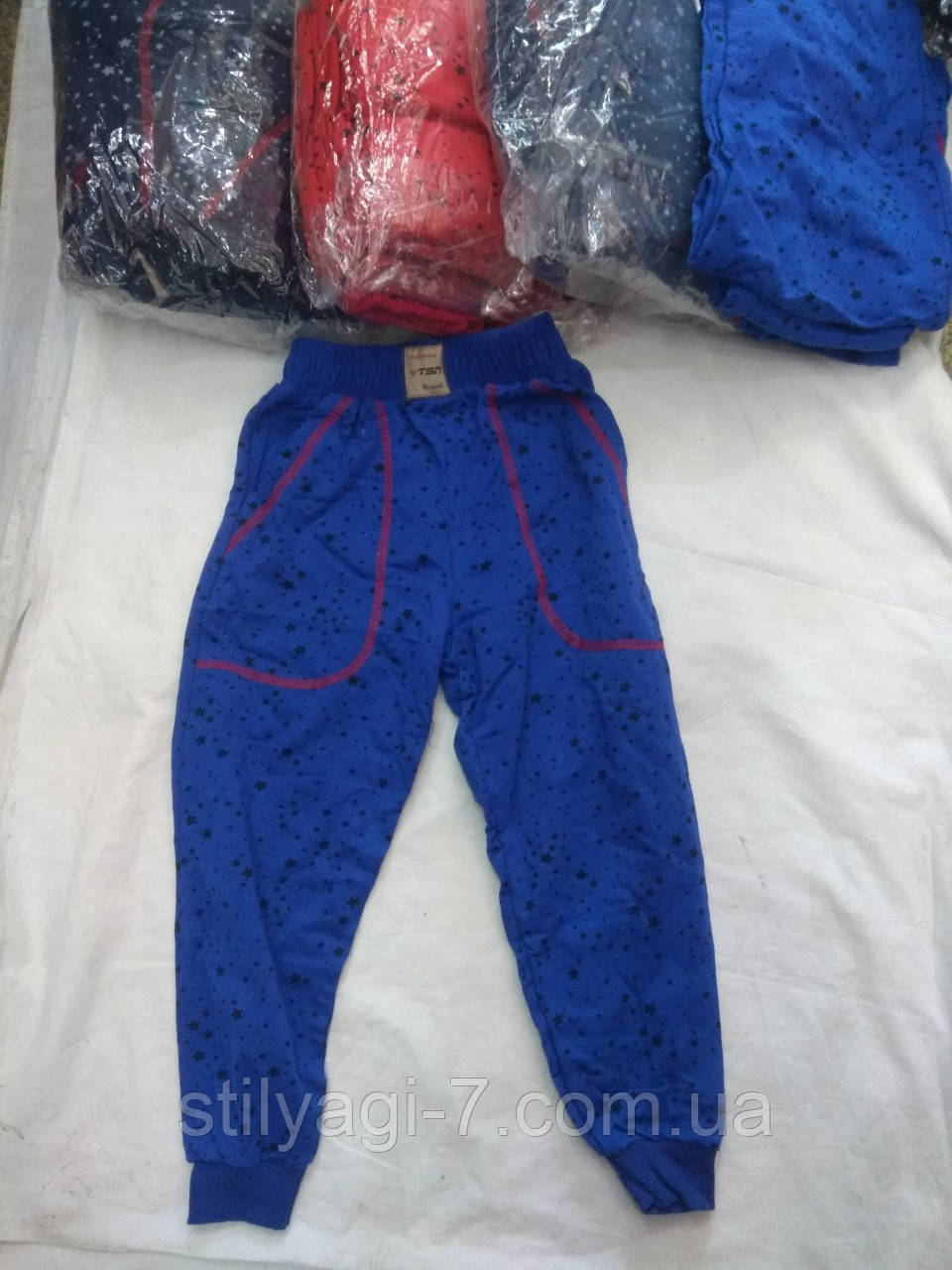 Спортивные штаны для мальчика на 3-11 лет серого, красного, синего цвета оптом