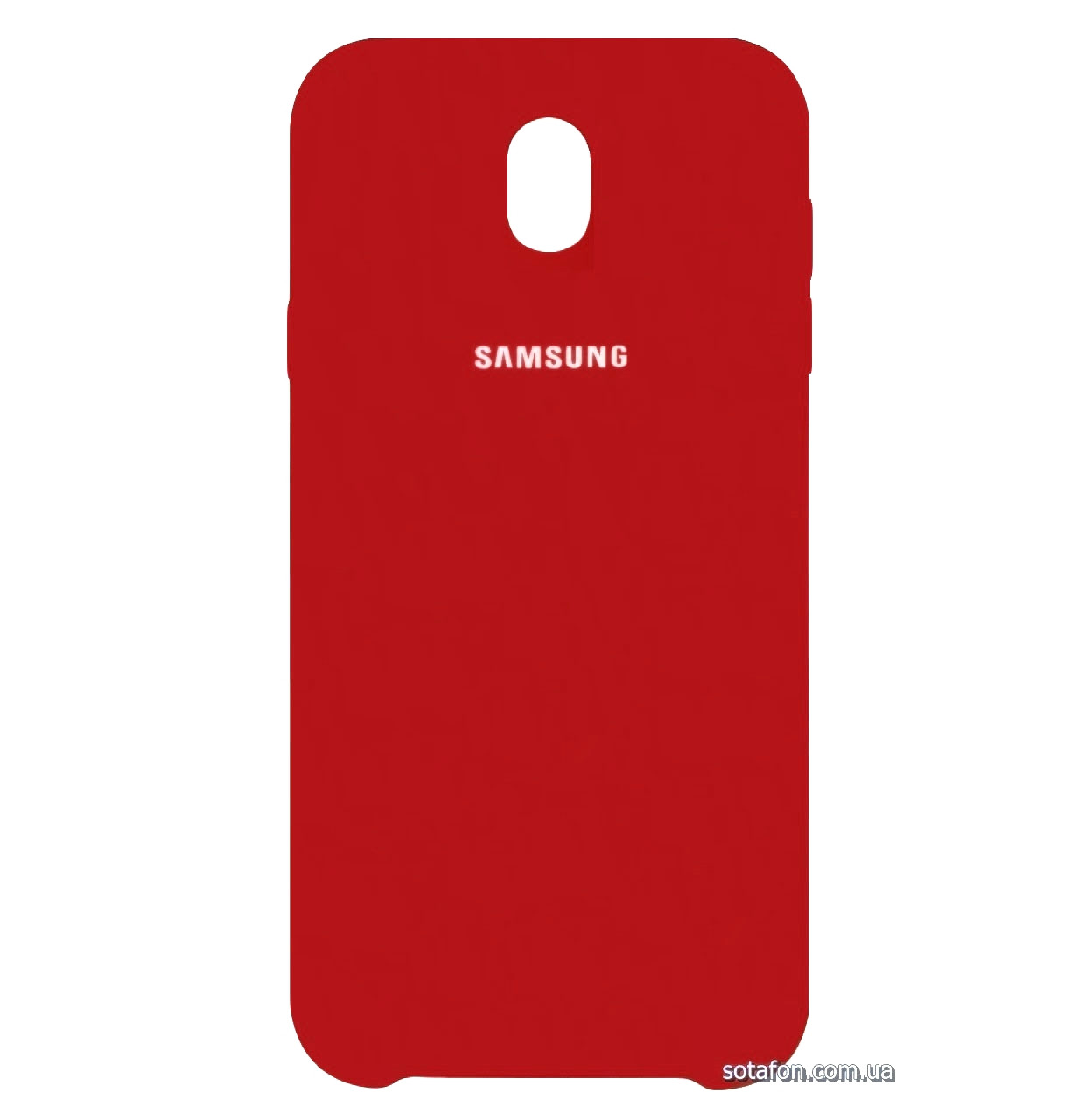 Чехол-накладка Original Silicone case на Samsung Galaxy J7 (2017) SM-J730F Dark Red