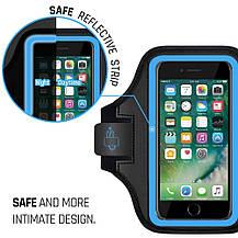 Спортивный чехол LOVPHONE для iPhone 7/8 Plus влагостойкий  светоотражающий голубой, фото 3