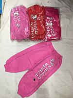 Детские спортивные штаны для девочки на 1-4 лет розового, красного, малинового цвета оптом