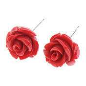 Серьги корраловая Роза