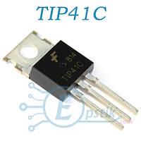 TIP41C, транзистор биполярный, NPN 100В 6А, TO220