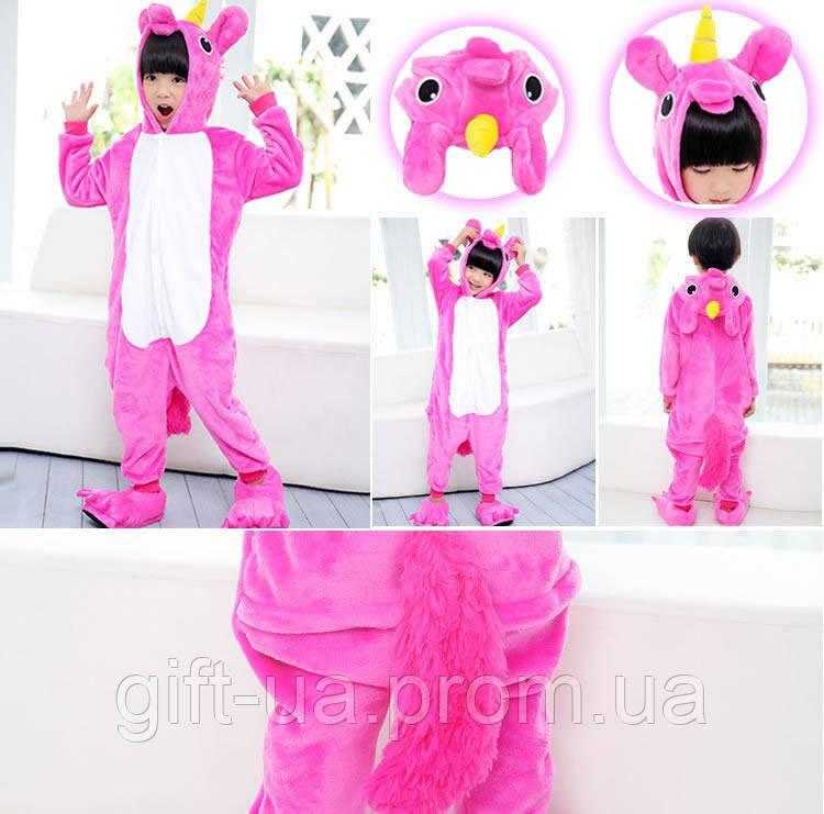 Пижама Кигуруми розовый пони пони купить в Украине цельная пижама единорог  ( Kigurumi детский единорог) 4602004e86fd6