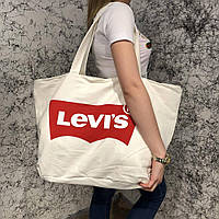 Beach Bag Levis Cotton White, фото 1