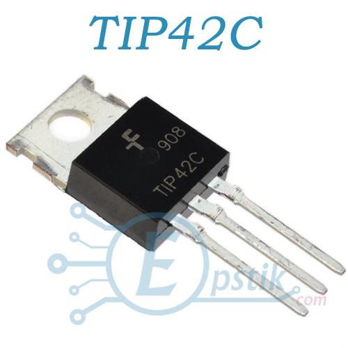 TIP42C, транзистор биполярный, NPN 100В 6А, TO220
