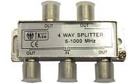 Разветвитель ТВ (splitter) 4-way Germany 5-1000MHZ