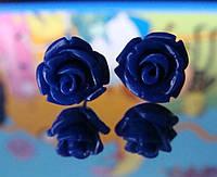 Серьги сапфировая Роза, фото 1