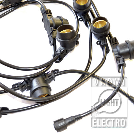 Белт-Лайт, гирлянда уличная, длина 9.6 м, без ламп, 12 патронов для ламп Е27