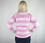 Турецкий женский теплый свитер розового цвета, фото 2