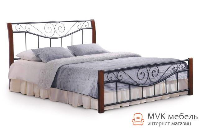 Двуспальная кровать Ленора-160 (каштан) ДЛ