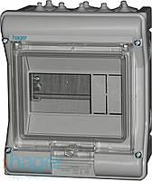 Распределительный щит Vector Hager внешней установки на 6 модулей IP65 с прозрачной дверцей