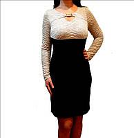 Красивое платье с брошью Carina р 44-48