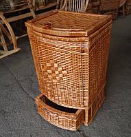 Ящик из шухлядкой для белья из лозы
