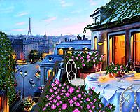 """Схема для вышивки бисером """"Парижский балкон"""""""