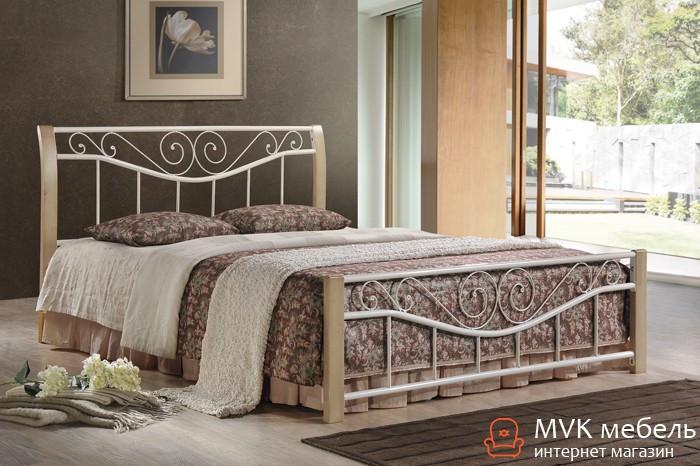 Двуспальная кровать Ленора-160 (крем) ДЛ
