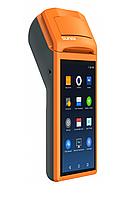 """POS-терминал с встроенным принтером чеков Sunmi V1 """" 58 мм Android Черно-оранжевый Android 3G Wi-Fi, фото 1"""