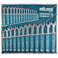 Набор ключей MOLDER рожково-накидных комбинированных 6-32 мм 26 ед. MT58126