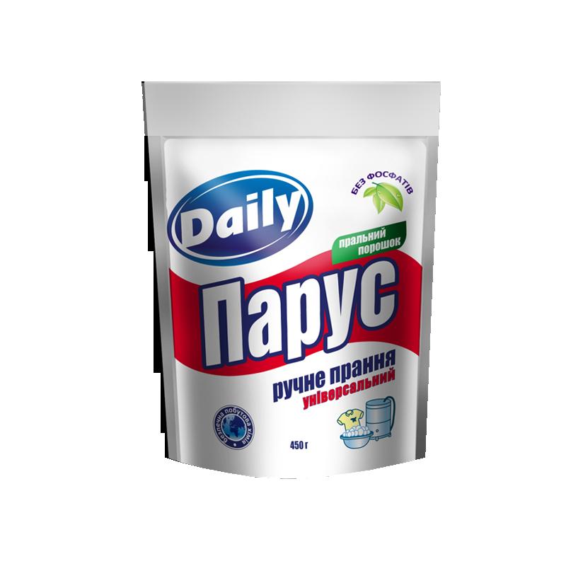 Универсальный стиральный порошок «Парус» Daily для ручной стирки 450г