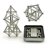 Магнитный конструктор 36 шт. магнитные палочки и  26 шт. стальные шарики