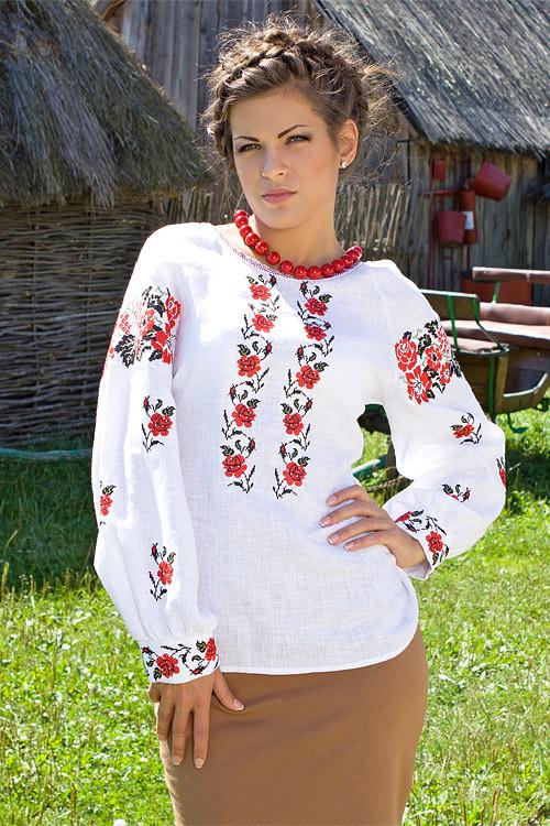 Женская вышиванка больших размеров (размеры XL, 3XL)