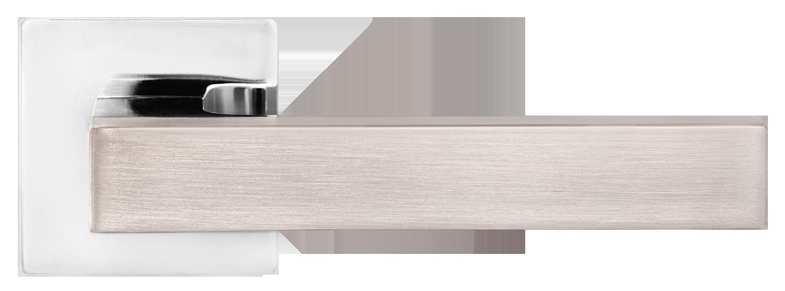 Дверные ручки MVM Z-1410 SN-CP матовый никель/полированный хром