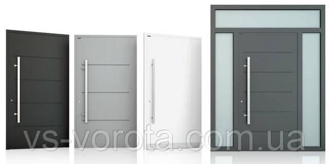 Алюминиевые входные двери - уличные наружные для дома